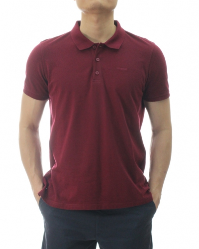 TONY SHORT SLEEVE POLO IN BURGUNDY