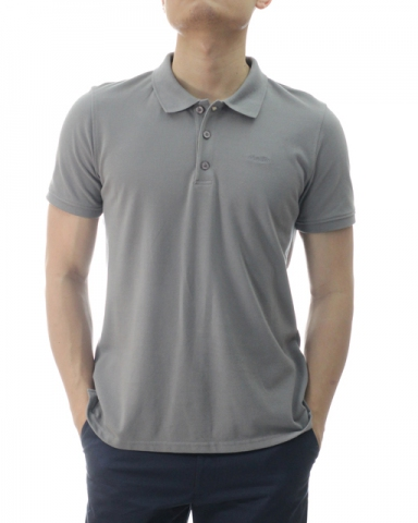 TONY SHORT SLEEVE POLO IN MID GREY