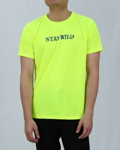 SEAN STAY WILD MICROFIBER TOP IN NEON YELLOW