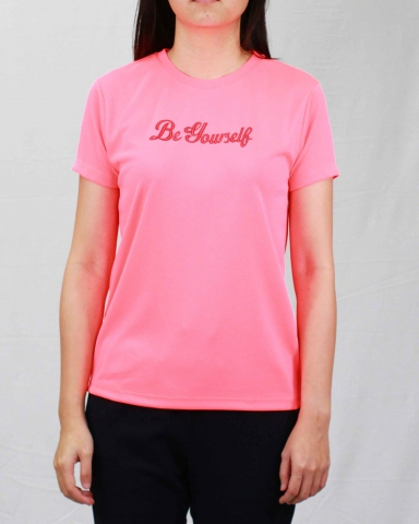 SARAH BE YOURSELF MICROFIBER TOP IN NEON PINK