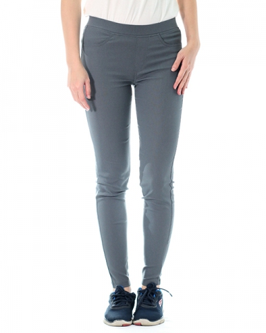 VICTORIA WOVEN LONG JEGGING IN DARK GREY