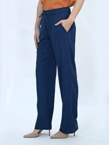 OLLIE SOLID EASY  LONG PANTS IN DARK NAVY