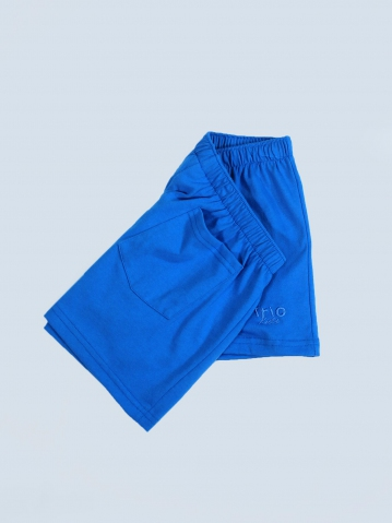 OCEAN SOLID KNIT SHORTS IN TURQUOISE