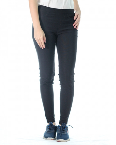 VICTORIA WOVEN LONG JEGGING IN BLACK