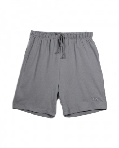 VIOLET SOLID KNIT BERMUDA IN MID GREY