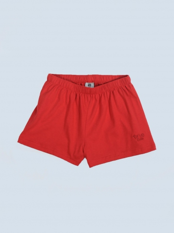 OCEAN SOLID KNIT SHORTS IN RED