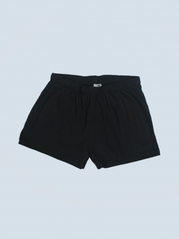 OCEAN SOLID KNIT SHORTS IN BLACK