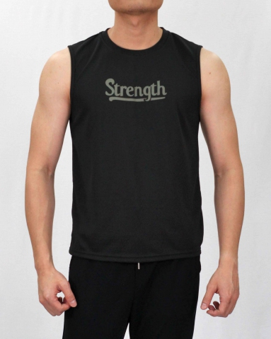 SCOTT STRENGTH MICROFIBER MUSCLE TEE IN BLACK