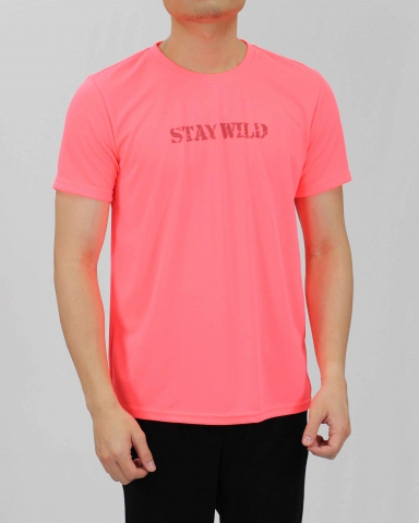 SEAN STAY WILD MICROFIBER TOP IN NEON PINK