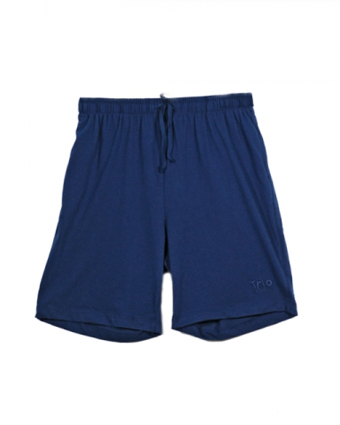 VIOLET SOLID KNIT BERMUDA IN DARK NAVY