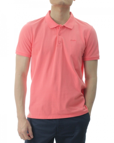 TONY SHORT SLEEVE POLO IN CORAL