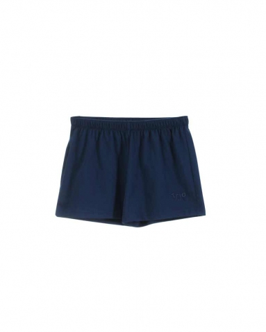TARA SOLID KNIT SHORTS IN DARK NAVY