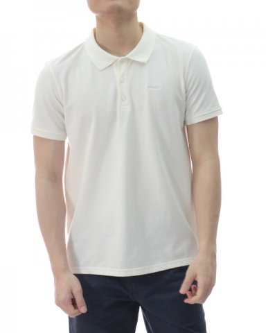 TONY SHORT SLEEVE POLO IN OFF WHITE