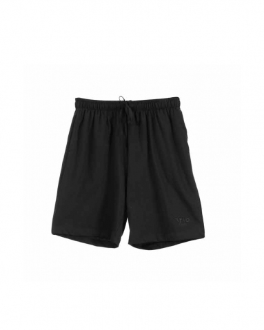 TARA SOLID KNIT BERMUDA IN BLACK