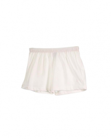 TARA SOLID KNIT SHORTS IN OFF WHITE