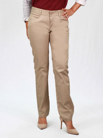 PAISLEY COTTON LONG PANTS IN KHAKI