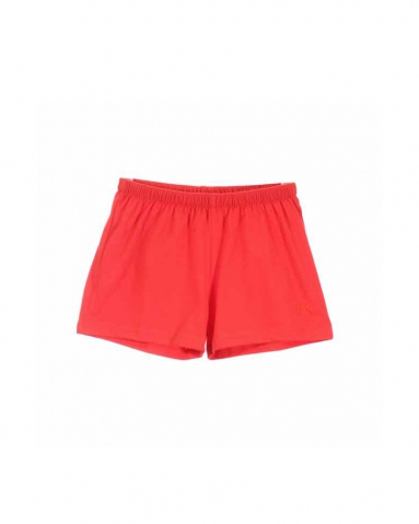 TARA SOLID KNIT SHORTS IN DARK ORANGE