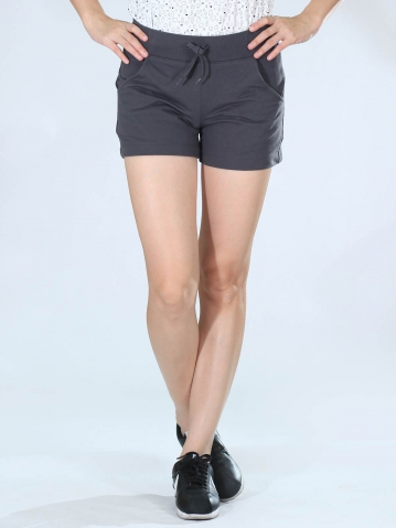 NEOL KNITTED SHORT PANTS IN DARK GREY