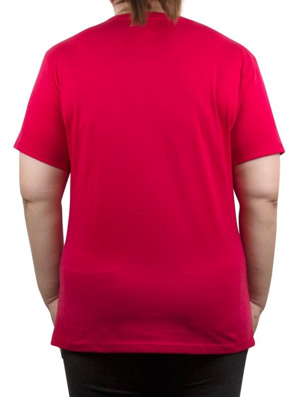 9ba4c6fe686ac4 WOMEN PLUS SIZE PLAIN TEE IN RED - TOPS - PLUS SIZE
