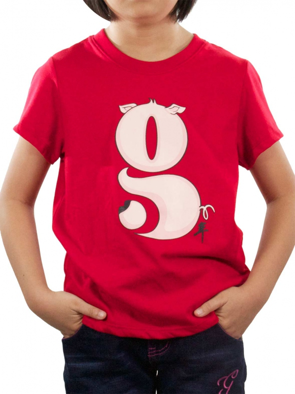 ab24b2f2 GIRLS G GRAPHIC TEE IN RED - TOPS - KIDS