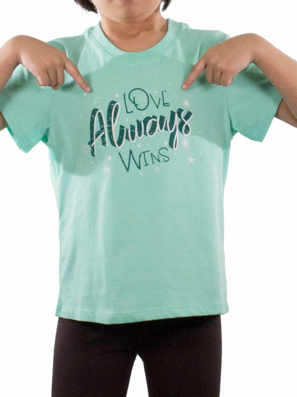 110a8fbf9 GIRLS LOVE ALWAYS WINS GRAPHIC TEE IN MINT - TOPS - KIDS