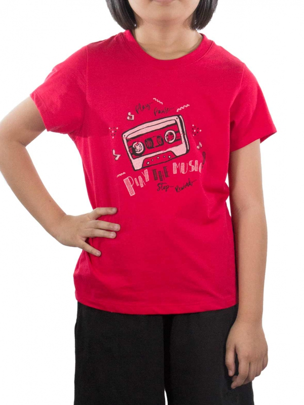 719a1de8 GIRLS PLAY THE MUSIC GRAPHIC TEE IN RED - TOPS - KIDS