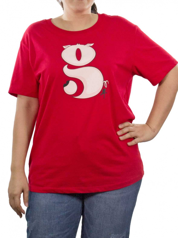 af58eff55171df WOMEN PLUS SIZE G GRAPHIC TEE IN RED - TOPS - PLUS SIZE