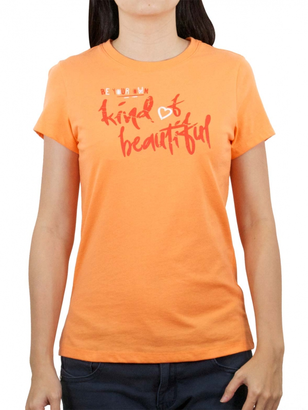 bfe70e409 WOMEN BEAUTIFUL GRAPHIC TEE IN LIGHT ORANGE - T-SHIRTS - WOMEN