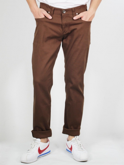 MIKE COLOUR JEANS IN DARK BROWN