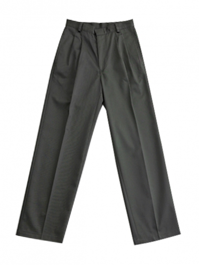 BOYS PLEATED LONG PANTS IN OLIVE
