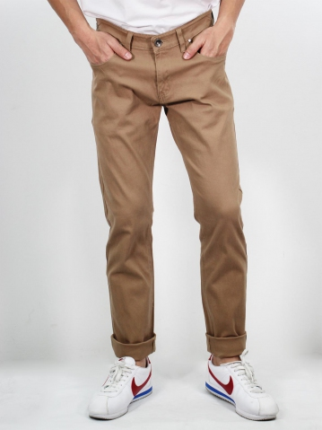 MIKE COLOUR JEANS IN CAMEL