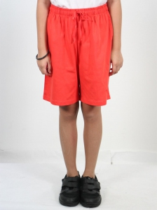 HANNA SOLID KNIT BERMUDA SHORTS IN DARK ORANGE