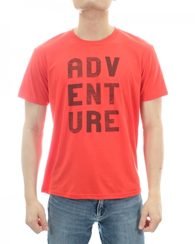 MEN ADVENTURE GRAPHIC TEE IN DARK ORANGE