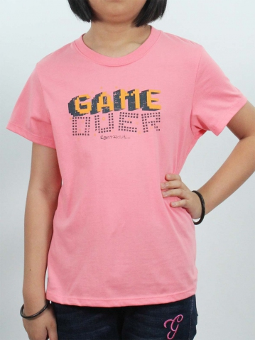 GIRLS GAME CONTINUE GRAPHIC TEE IN PINK