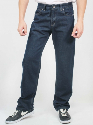 LUCAS STRAIGHT CUT JEANS IN DARK NAVY