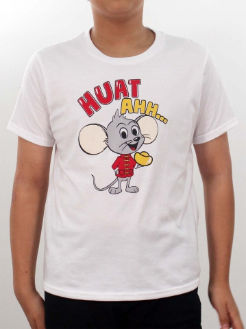 BOYS HUAT AHH GRAPHIC TEE IN WHITE
