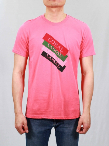 MEN CORAL GRAPHIC TEE IN CORAL