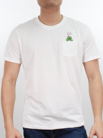 MEN FROG IN POCKET GRAPHIC TEE IN OFF WHITE
