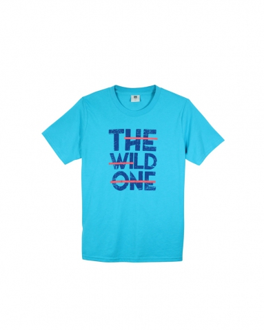 BOYS THE WILD ONE GRAPHIC TEE IN MID BLUE