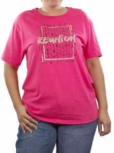 51709cb2f WOMEN PLUS SIZE REUNION GRAPHIC TEE IN PINK