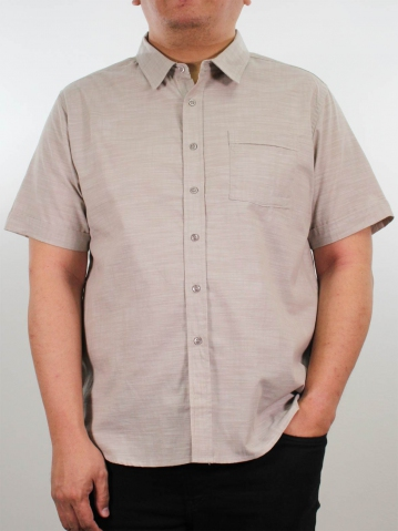 JOSEPH PLUS SIZE COLLARED SHIRT IN BROWN