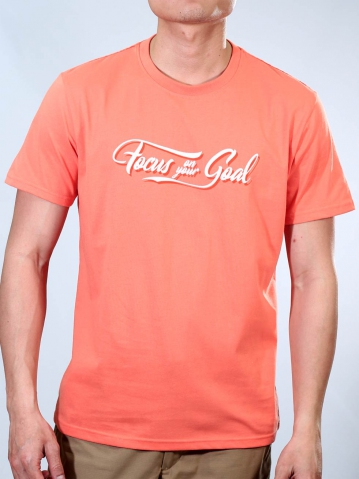 MEN FOCUS ON YOUR GOAL GRAPHIC TEE IN PEACH