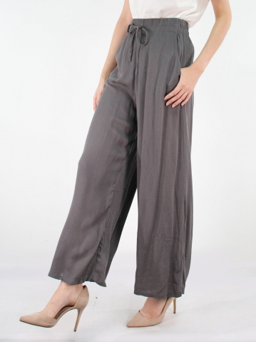 JANE FLARED LONG PANTS IN DARK GREY