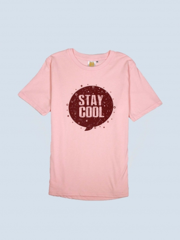 BOYS STAY COOL GRAPHIC TEE IN LIGHT PEACH