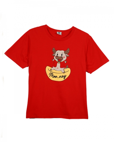BOYS MONEY COW GRAPHIC TEE IN RED