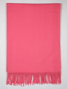 FIONA SOLID COLOUR SCARF IN CORAL