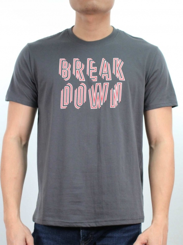 MEN BREAKDOWN GRAPHIC TEE IN DARK GREY