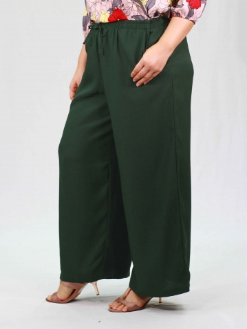 PENNY SOLID EASY LONG PANTS IN DARK OLIVE