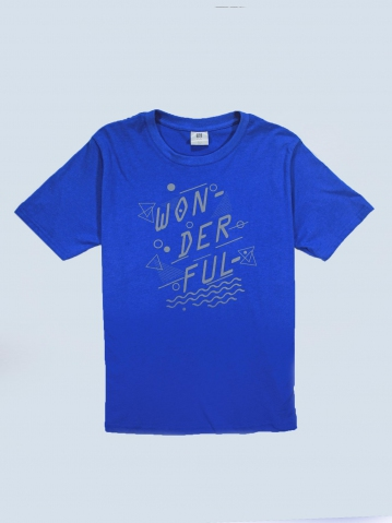 BOYS WONDERFUL GRAPHIC TEE IN ROYAL