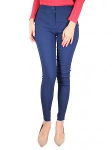 GLORIA SOLID LONG JEGGING IN DARK NAVY